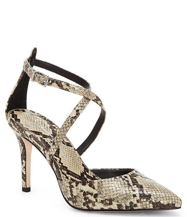 ジェシカシンプソン レディース ヒール シューズ Ambrie Snake Print Pointed Toe Stiletto Pumps Snake