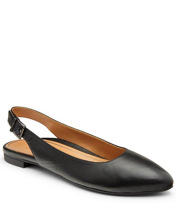 バイオニック レディース パンプス シューズ Jade Leather Slingback Flats Black