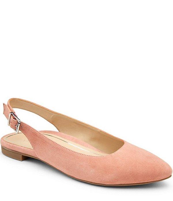 バイオニック レディース パンプス シューズ Jade Slingback Suede Flats Dusty Pink