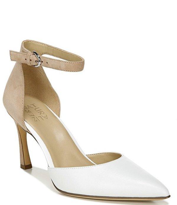 ナチュライザー レディース ヒール シューズ Aurelia Ankle Strap Leather and Suede Pumps White/Nude Lthr