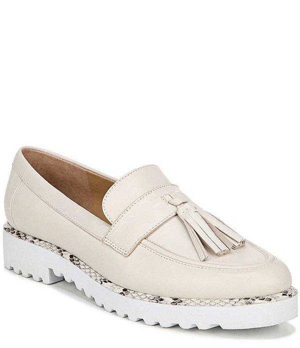 フランコサルト レディース スリッポン・ローファー シューズ Carolynn Leather Tassel Loafers Putty
