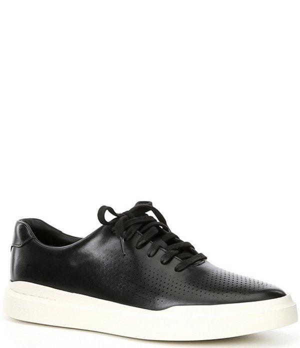 コールハーン メンズ ドレスシューズ シューズ Men's Rally Perforated Leather Sneakers Black