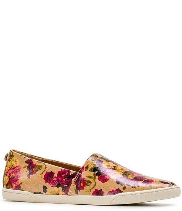 パトリシアナシュ レディース スリッポン・ローファー シューズ Lola Floral Print Leather Slip On Sneakers Antique Rose
