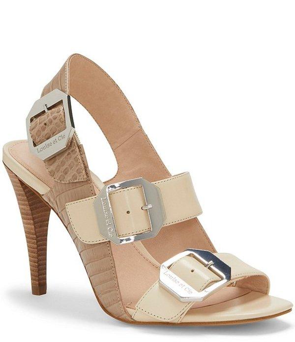 ルイスエシー レディース サンダル シューズ Khalon Croco Embossed Leather Buckle Detail Square Toe Dress Sandals Parchment Multi