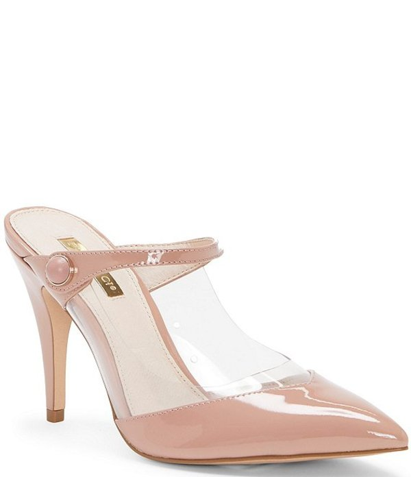 ルイスエシー レディース サンダル シューズ Joykiss Patent Leather Pointed Toe Mules Pink/Clear