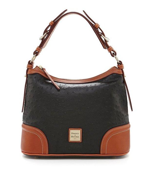 ドーネイアンドバーク レディース ショルダーバッグ バッグ Ostrich Collection Hobo Colorblock Bag Black