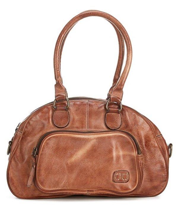 ベッドステュ レディース ハンドバッグ バッグ Angie Tanned Leather Top Handle Medium Satchel Bag Tan Rustic