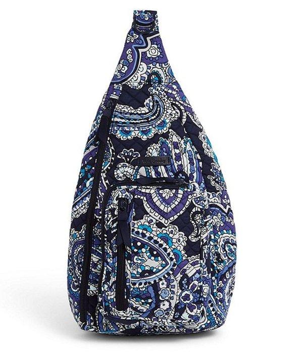 ベラブラッドリー レディース ハンドバッグ バッグ Iconic Sling Backpack Deep Night Paisley