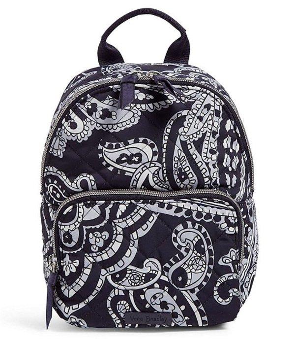 ベラブラッドリー レディース ハンドバッグ バッグ Iconic Performance Twill Quilted Mini Backpack Deep Night Paisley Neutral