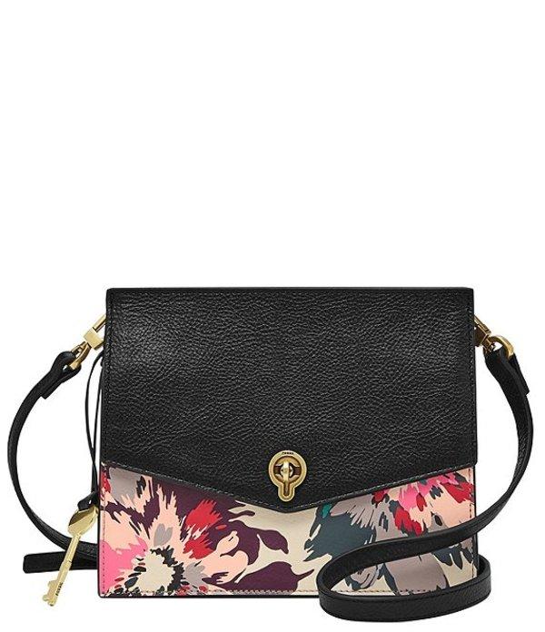 フォッシル レディース ショルダーバッグ バッグ Stevie Floral Leather Crossbody Bag Floral