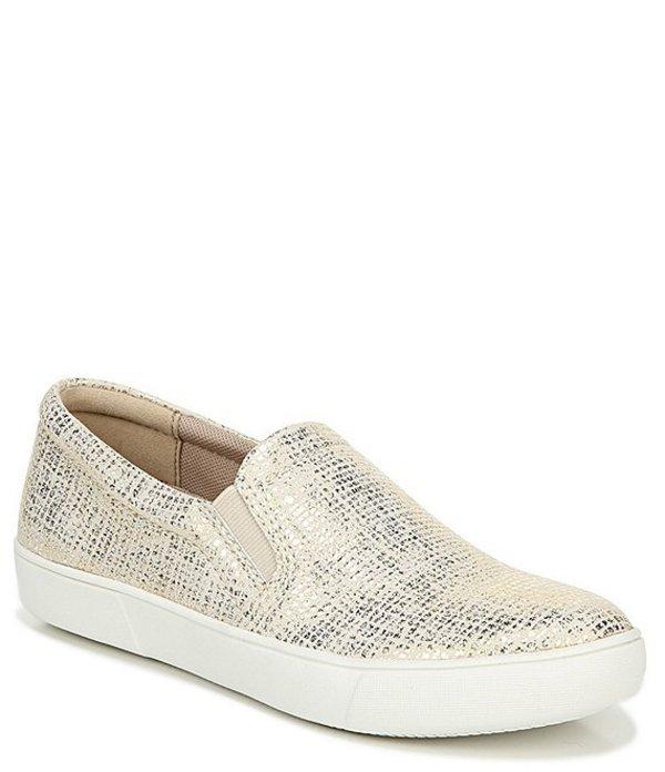 ナチュライザー レディース スニーカー シューズ Marianne Metallic Leather Slip On Sneakers White/Gold