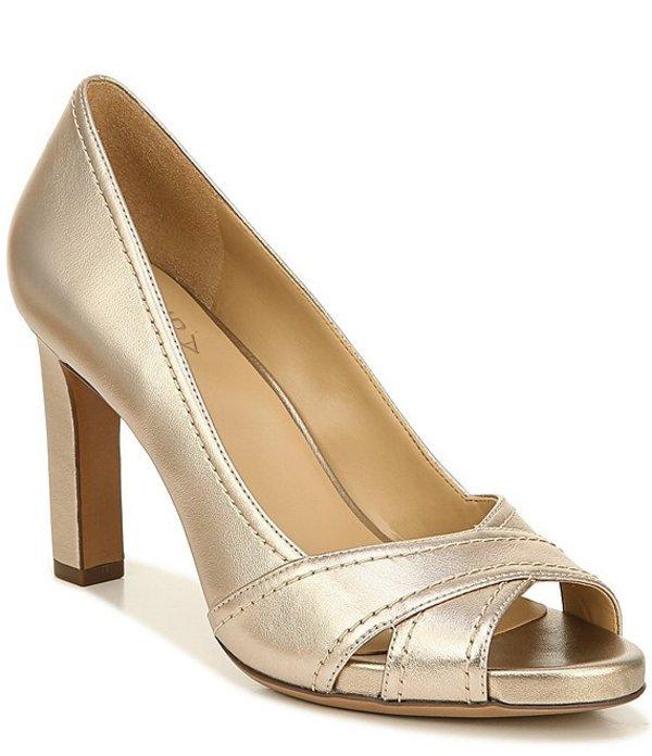 ナチュライザー レディース ヒール シューズ Odetta Leather Peep Toe Pumps Light Bronze