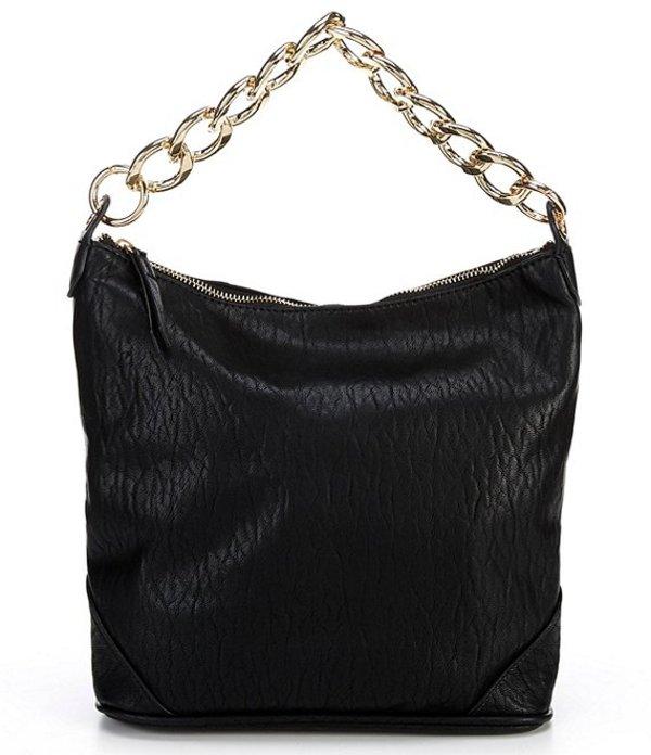 ジェシカシンプソン レディース ショルダーバッグ バッグ Javrey Zip Bucket Bag Black