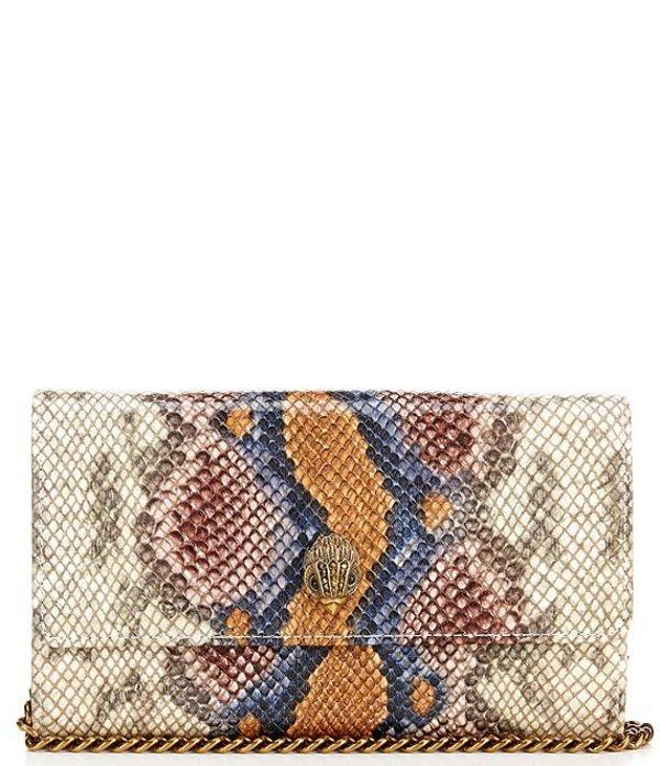 カートジェイガー レディース ショルダーバッグ バッグ Kensington Snake Chain Wallet Lilac