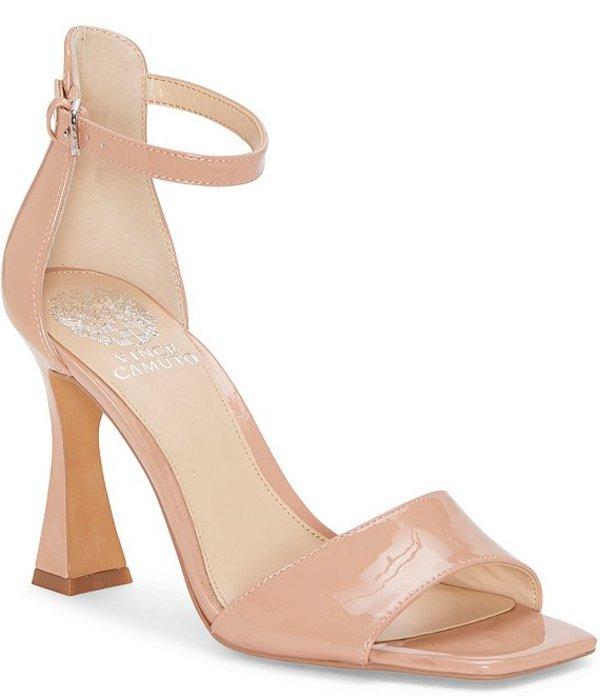 ヴィンスカムート レディース サンダル シューズ Reesera Patent Leather Square Toe Dress Sandals Baby Doll