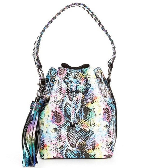 アルド レディース ショルダーバッグ バッグ Dororyth Multi-colored Snake Print Tassel Bucket Bag Bright Multi
