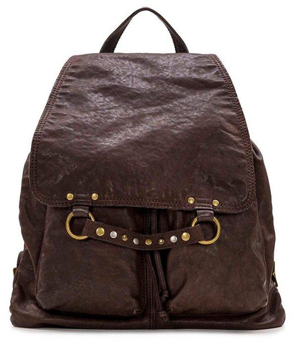パトリシアナシュ レディース バックパック・リュックサック バッグ Vintage Washed Collection Leather Atrani Backpack Chocolate