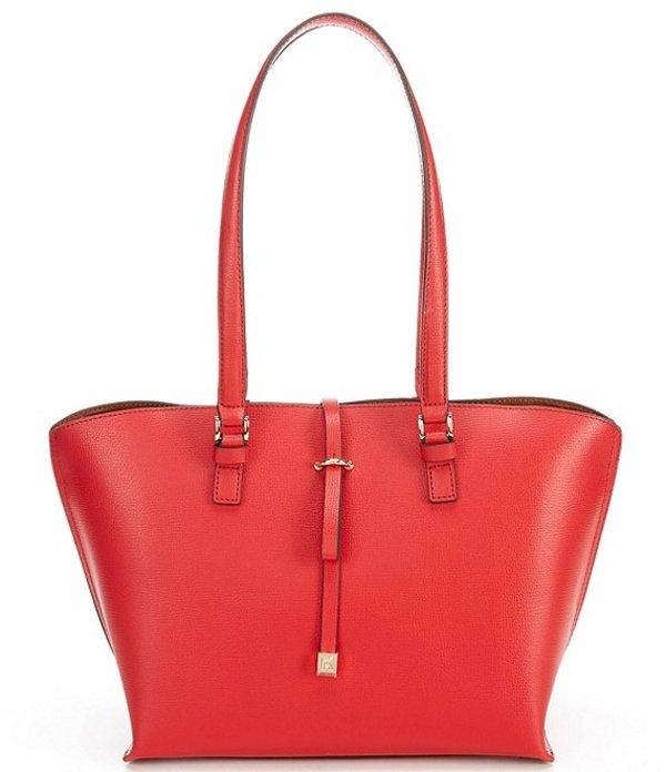 アントニオ メラーニ レディース トートバッグ バッグ Clean Classics Leather Snap Tote Bag Red