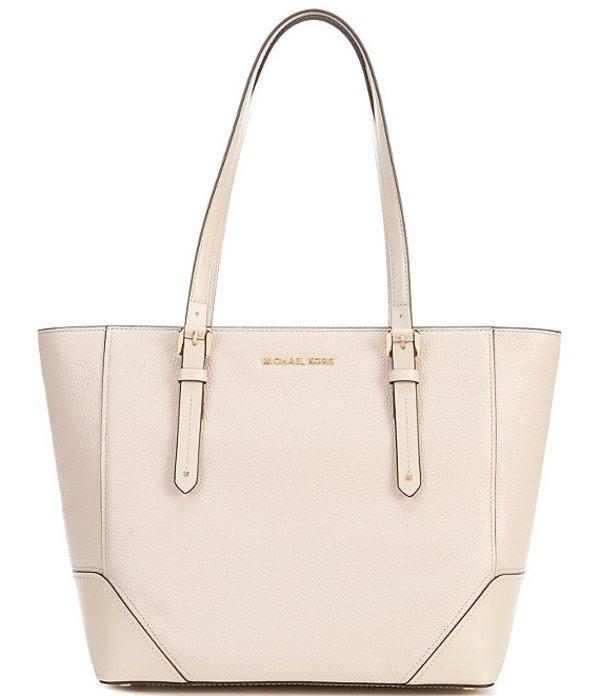 マイケルコース レディース ハンドバッグ バッグ Aria Leather Large Tote Bag Soft Pink