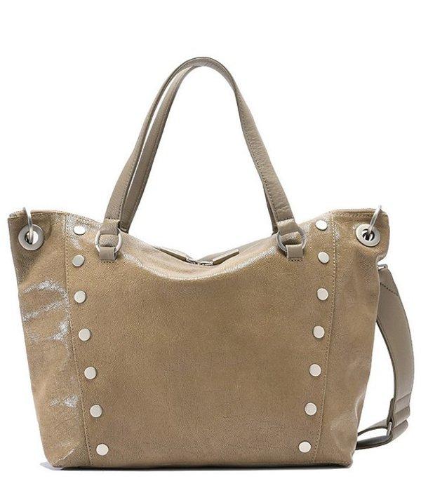 ハミット レディース ショルダーバッグ バッグ Daniel Rivet Large Grey Leather Satchel Bag Back Country