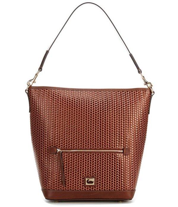 ドーネイアンドバーク レディース ショルダーバッグ バッグ Camden Woven Collection Leather Hobo Bag Chesnut