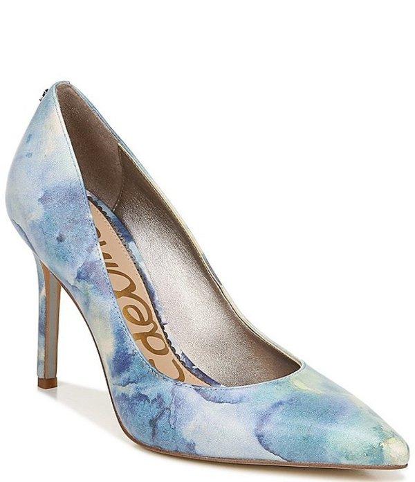 サムエデルマン レディース ヒール シューズ Hazel Shibori Print Leather Pointed Toe Pumps Blue Multi