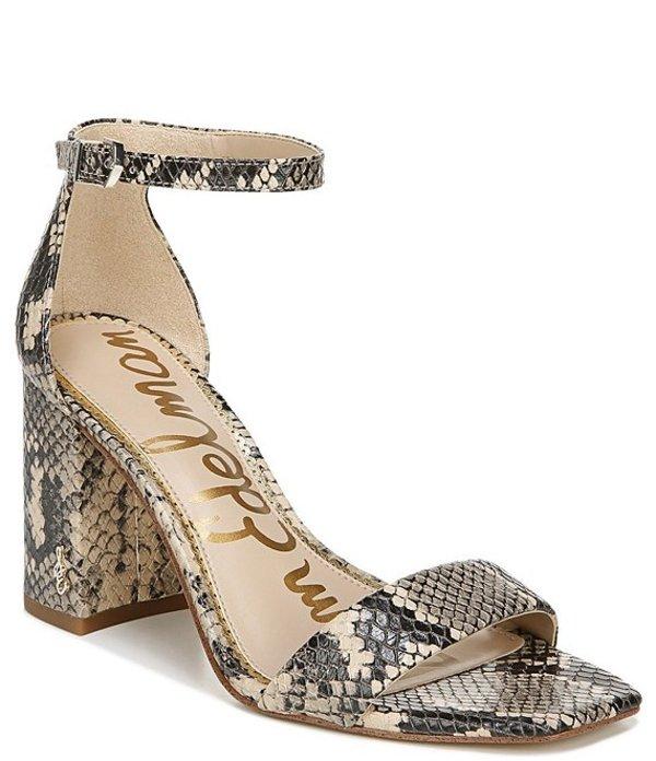 サムエデルマン レディース サンダル シューズ Daniella Snake Print Leather Sqaure Toe Dress Sandals Desert Multi