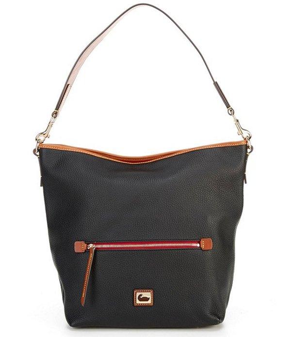 ドーネイアンドバーク レディース ショルダーバッグ バッグ Camden Pebble Collection Leather Zip Hobo Bag Black