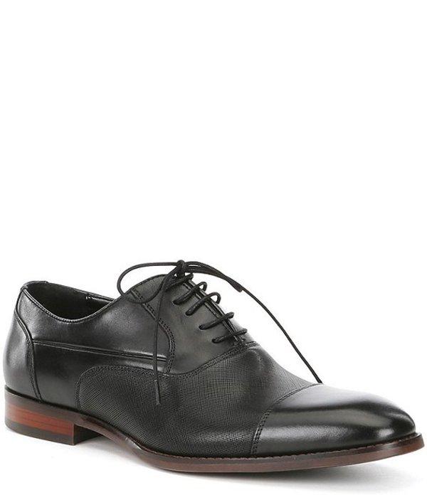スティーブ マデン メンズ ドレスシューズ シューズ Men's Proctr Leather Cap Toe Oxfords Black