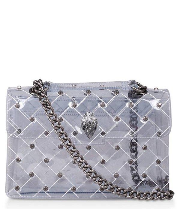 カートジェイガー レディース ショルダーバッグ バッグ Kensington Large Clear Studded Shoulder Bag White