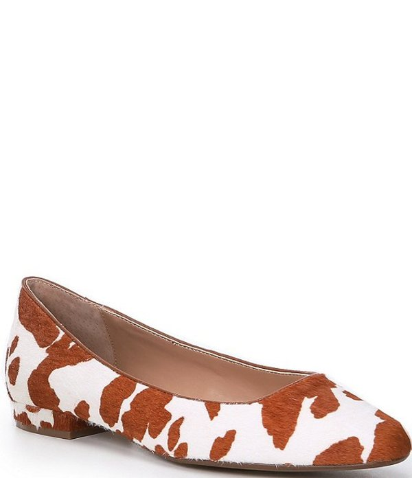 スティーブ マデン レディース パンプス シューズ Steven by Steve Madden Bantry Cow Print Haircalf Ballet Flats Cow Print