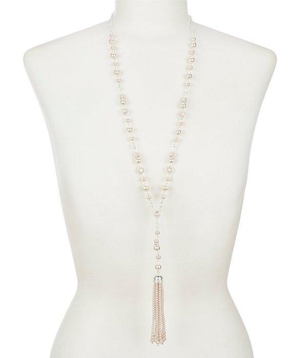 アンクライン レディース ネックレス・チョーカー アクセサリー Pink Pearl Tassel Necklace Pearl