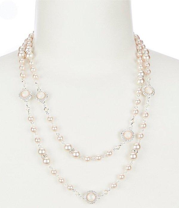 アンクライン レディース ネックレス・チョーカー アクセサリー Pink Pearl Strand Necklace Pink