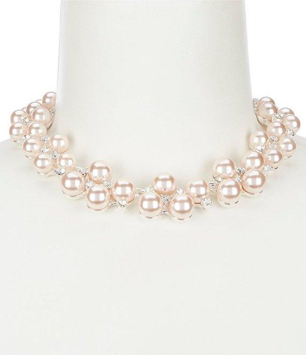 アンクライン レディース ネックレス・チョーカー アクセサリー Pink Pearl Bauble Collar Necklace Pink