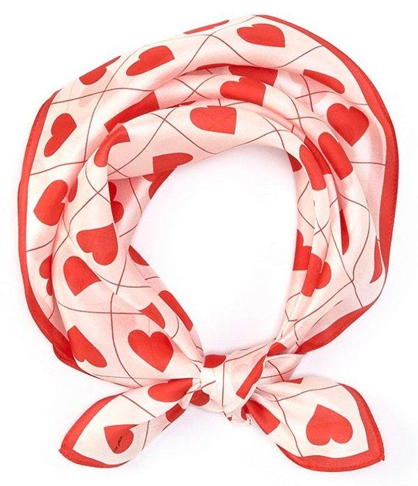 エコー レディース マフラー・ストール・スカーフ アクセサリー Boxed Hearts Neckerchief White