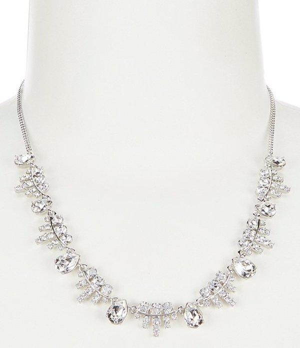 ジバンシー レディース ネックレス・チョーカー アクセサリー Crystal Frontal Necklace Rhodium