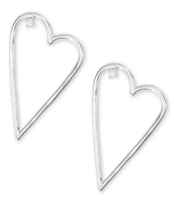 ラッキーブランド レディース ピアス・イヤリング アクセサリー Silver Open Heart Earrings Silver