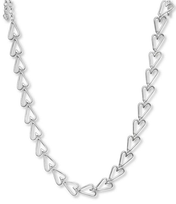 ラッキーブランド レディース ネックレス・チョーカー アクセサリー Heart Link Collar Necklace Silver