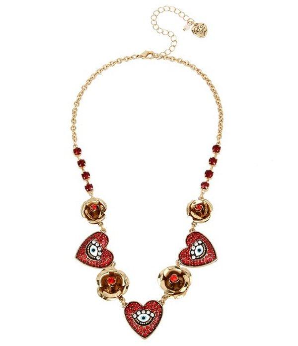 ベッツィジョンソン レディース ネックレス・チョーカー アクセサリー Mystical Evil Eye Charm Frontal Necklace Red