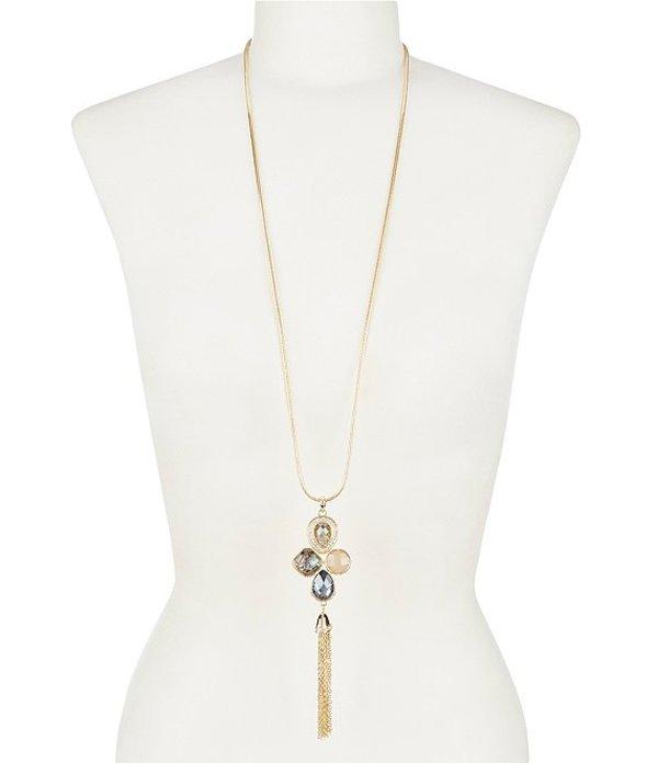 ディラーズ レディース ネックレス・チョーカー アクセサリー Abalone Crystal Multi Long Tassel Necklace Abalone