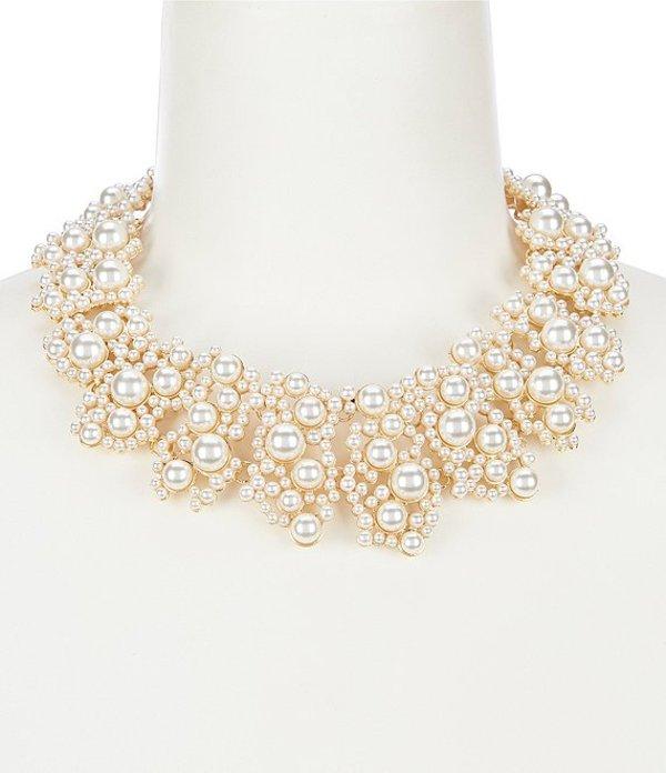 ディラーズ レディース ネックレス・チョーカー アクセサリー Pearl Lace Statement Necklace Pearl