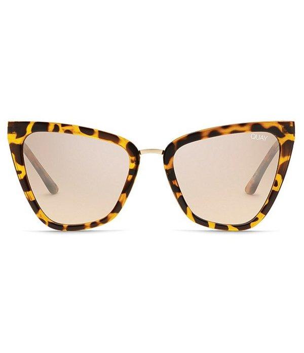 クアイオーストラリア レディース サングラス・アイウェア アクセサリー Quay #QUAYXJLO Reina Mini Retro Cat Eye Sunglasses Tortoise Brown Flash