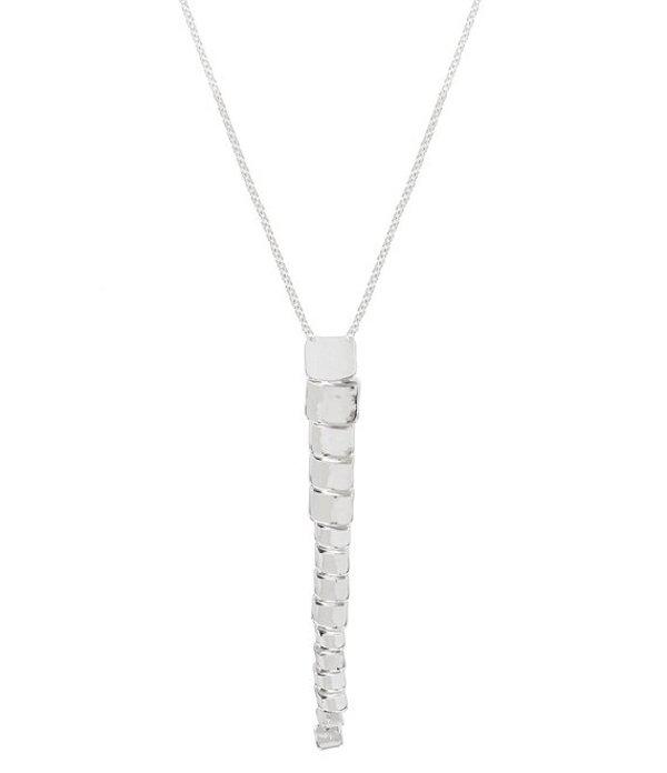 ロバート リー モーリス レディース ネックレス・チョーカー アクセサリー Sculptural Link Y-Necklace Shiny Silver