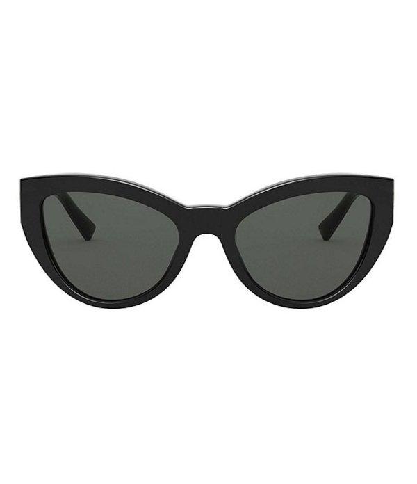 ヴェルサーチ レディース サングラス・アイウェア アクセサリー Cat Eye Medusa Crystal Sunglasses Black
