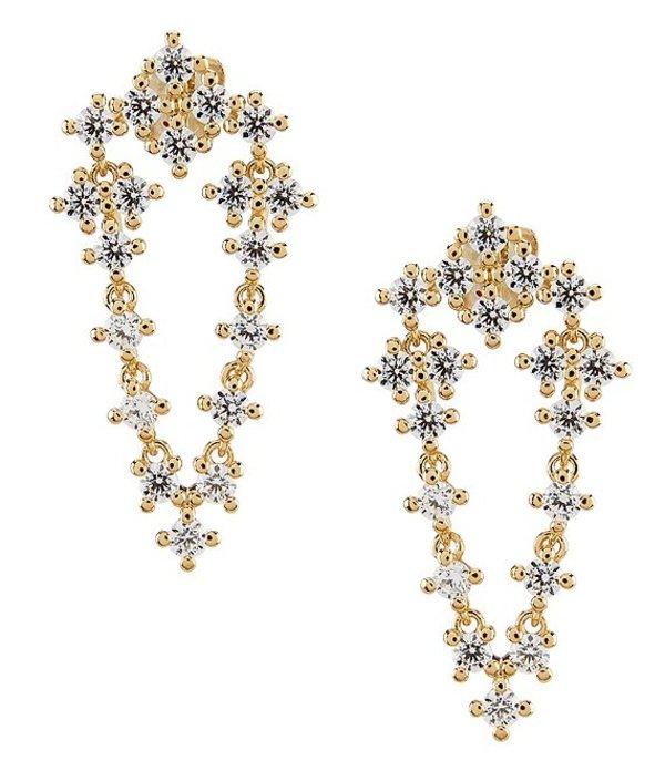 ナディール レディース ピアス・イヤリング アクセサリー Evie Small CZ Drape Earrings Gold