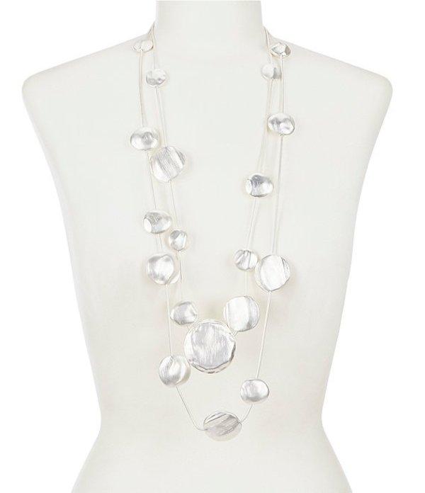 ベルバッジリーミシュカ レディース ネックレス・チョーカー アクセサリー Marteau Discs Illusion Layered Necklace Silver