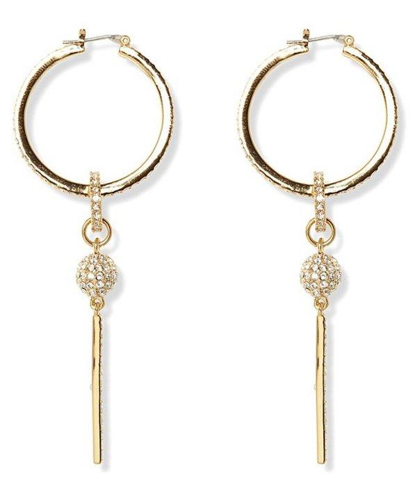 ヴィンスカムート レディース ピアス・イヤリング アクセサリー Crystal Fireball Hoop Earrings Gold