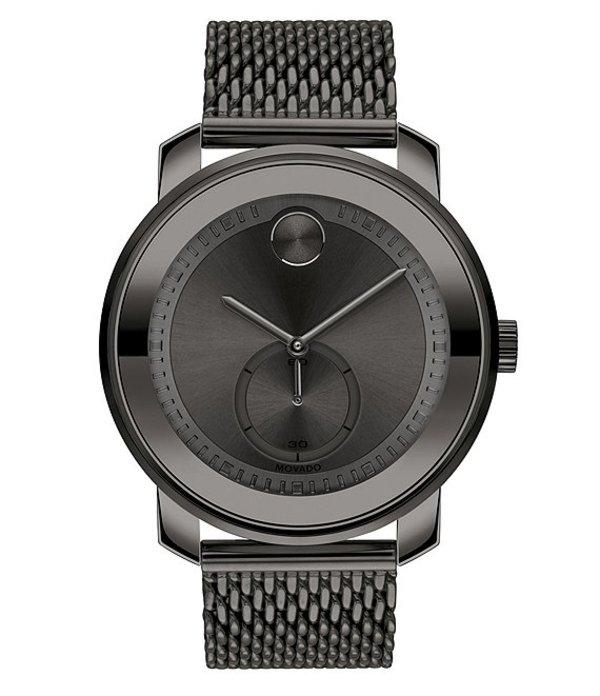 モバド メンズ 腕時計 アクセサリー Bold Swiss Quartz Analog Metal Gunmetal Stainless Steel Mesh Watch Gray