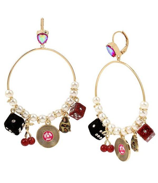 ベッツィジョンソン レディース ピアス・イヤリング アクセサリー Retro Multi Charm Gypsy Hoop Earrings Gold/Multi