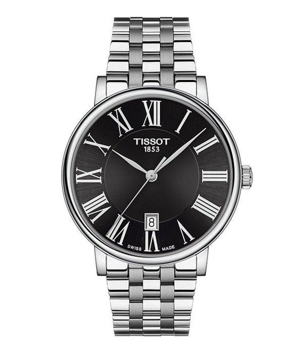 ティソット メンズ 腕時計 アクセサリー Men's Carson Premium Stainless Steel Bracelet Watch Silver
